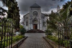 Chiesa cattolica della foto in Jalta Fotografia Stock Libera da Diritti