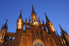 Chiesa cattolica di Mosca Fotografia Stock