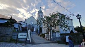 Chiesa cattolica di Motomachi a Hakodate, Giappone Immagine Stock Libera da Diritti