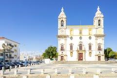 Chiesa cattolica a Faro, Algarve, Portogallo immagini stock