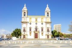 Chiesa cattolica a Faro, Algarve, Portogallo immagine stock libera da diritti