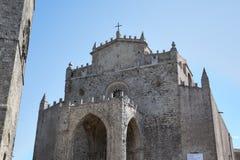 Chiesa cattolica medievale Chiesa Matrice in Erice. Immagini Stock Libere da Diritti