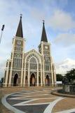 Chiesa cattolica nella provincia di Chantaburi Immagine Stock Libera da Diritti