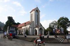 Chiesa cattolica, PA del Sa, Vietnam Fotografia Stock