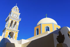 Chiesa cattolica in Santorini Fotografie Stock Libere da Diritti