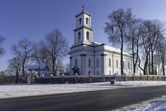Chiesa in città lituana Fotografia Stock