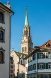 Chiesa in città St Gallen, Svizzera Fotografie Stock
