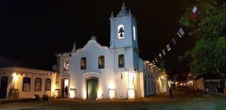Chiesa in città storica di Paraty immagini stock libere da diritti