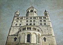Chiesa collegiale del san Gertrude in Nivelles Immagini Stock