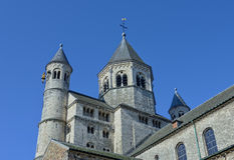 Chiesa collegiale del san Gertrude in Nivelles Immagine Stock