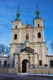 Chiesa collegiale della st Florian nella parte storica di Cracovia Fotografie Stock