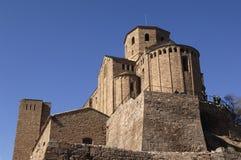 Chiesa collegiale di Sant Vicenç, Cardona, Bages, Lleida, Catal fotografia stock