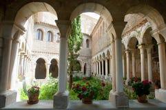Chiesa collegiale di Santa Maria - Alquezar - la Spagna Fotografia Stock Libera da Diritti