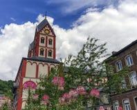 Chiesa collegiale di St Bartholomew, Liegi, Belgio Immagine Stock Libera da Diritti