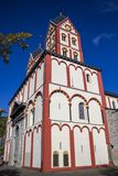 Chiesa collegiale di St Bartholomew a Liegi, Belgio, vista esteriore fotografia stock libera da diritti