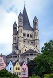 Chiesa in Colonia Germania Immagine Stock Libera da Diritti
