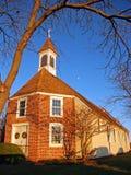 Chiesa coloniale al tramonto Fotografie Stock Libere da Diritti
