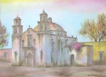 Chiesa coloniale messicana Immagine Stock