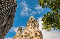 Chiesa commemorativa di Kaiser Wilhelm, Berlino Fotografia Stock Libera da Diritti