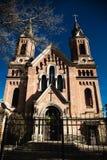 Chiesa con cielo blu, il tetto della chiesa Immagine Stock Libera da Diritti