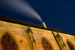 Chiesa con il segno dello zodiaco Orion fotografia stock