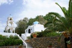 Chiesa con la torretta in Grecia Fotografia Stock