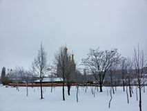 Chiesa con le cupole dorate Fotografie Stock Libere da Diritti