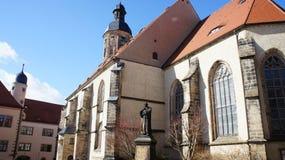 Chiesa con un memoriale di Lutero Fotografia Stock