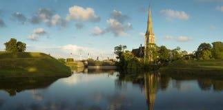 Chiesa a Copenhaghen fotografia stock libera da diritti