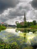 Chiesa a Copenhaghen, Danimarca Fotografie Stock