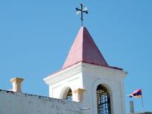 Chiesa copta di Giaffa e bandiera dell'Armenia 2011 Fotografie Stock
