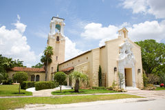 Chiesa in Coral Gables Florida Fotografia Stock