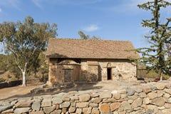 Chiesa cristiana antica, Asinou, Cipro Immagine Stock Libera da Diritti
