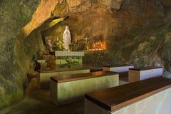 Chiesa cristiana in caverne di Treviso Caglieron Fotografie Stock