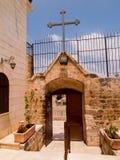 Chiesa cristiana molto vecchia ai territori arabi di Burqin in Palestin Fotografia Stock Libera da Diritti