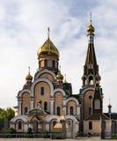 Chiesa cristiana vicino ad Almaty, il Kazakistan Fotografie Stock Libere da Diritti