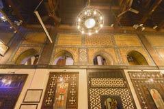 Chiesa d'attaccatura di Il Cairo copto, Egitto Fotografia Stock Libera da Diritti
