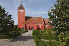 Chiesa danese rossa Immagini Stock Libere da Diritti