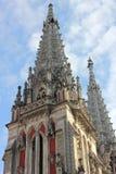 Chiesa dedicata nello stile gotico Fotografia Stock Libera da Diritti