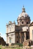 Chiesa-dei Santi Luca e Martina Lizenzfreies Stockfoto