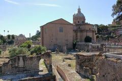 Chiesa dei Santi Luca e Martina from Foro di Nerva Stock Image