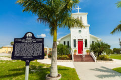 Chiesa dei terreni paludosi fotografie stock
