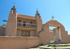 Chiesa del Adobe nel New Mexico Fotografia Stock Libera da Diritti