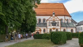 Chiesa del Andechs stock footage
