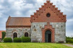 Chiesa del castello di Trollenas immagini stock libere da diritti