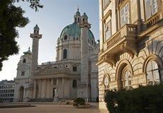 Chiesa del Charles - di Vienna Boromeo fotografie stock libere da diritti
