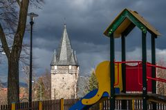 Chiesa del cuore di Holliest di Jesus Christ in Karpacz Fotografie Stock
