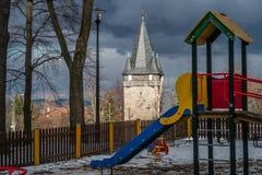 Chiesa del cuore di Holliest di Jesus Christ in Karpacz Immagine Stock