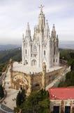 Chiesa a Barcellona Fotografie Stock Libere da Diritti