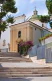 Chiesa del della Libera di Madonna. Rodi Garganico. La Puglia. L'Italia. Fotografia Stock Libera da Diritti